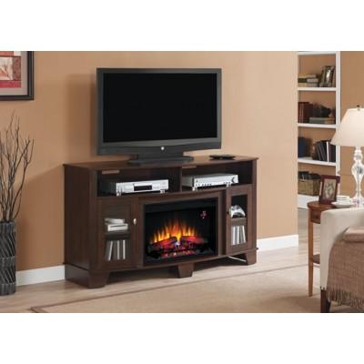 La Salle třešeň stolek pod televizi s elektrickým krbem Classic Flame