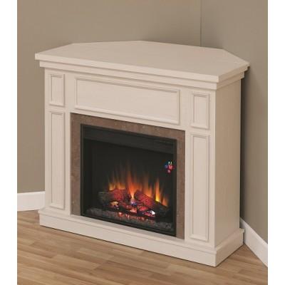 New Castle bílý elektrický krb Classic Flame