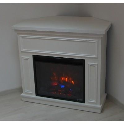 Kemi bílý elektrický krb Classic Flame