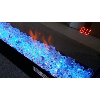 """Prism 50"""" černý rám - elektrický nástěnný krb Dimplex"""