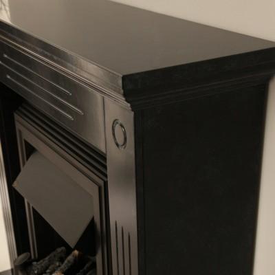 Elektrický krb Cambridge s mramorovým ostěním v černo/šedé