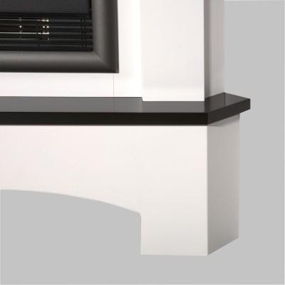 Elektrický krb rohový Toscana bílá/černá