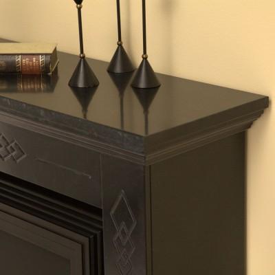 Elektrický krb Warwick s mramorovým ostěním v černo/šedé