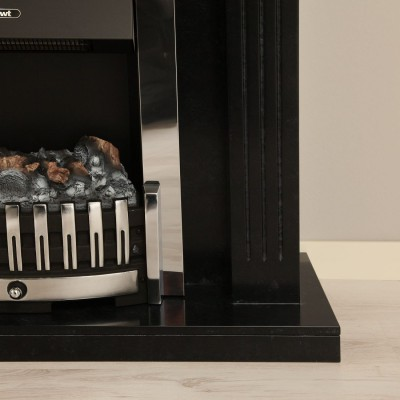 Elektrický krb Boston s černo šedým mramorovým ostěním