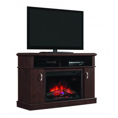 Dwell třešeň stolek pod televizi s elektrickým krbem Classic Flame