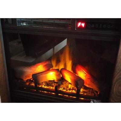 Milo moderní elektrický krb Classic Flame provedení ořech