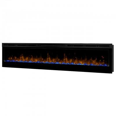 """Prism 74"""" černý rám - elektrický nástěnný krb Dimplex"""