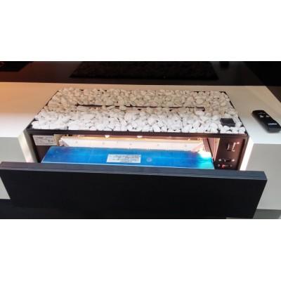 Cassette L s oblázky - elektrická krbová vložka se systémem Opti-myst