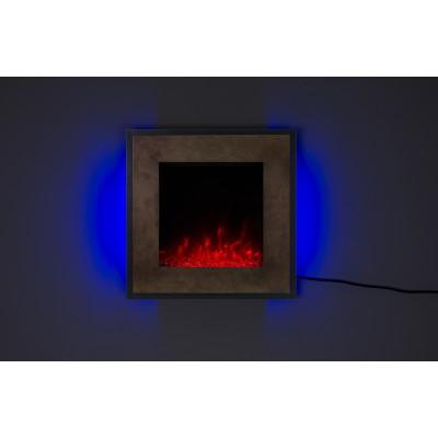 FORT Bronz- nástěnný elektrický krb LED