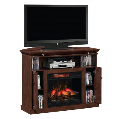 Windsor třešeň stolek pod televizi s elektrickým krbem Classic Flame