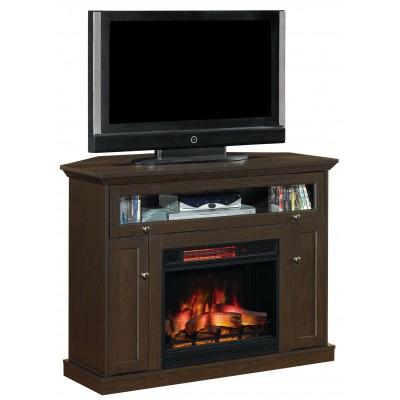 Windsor espresso stolek pod televizi s elektrickým krbem Classic Flame