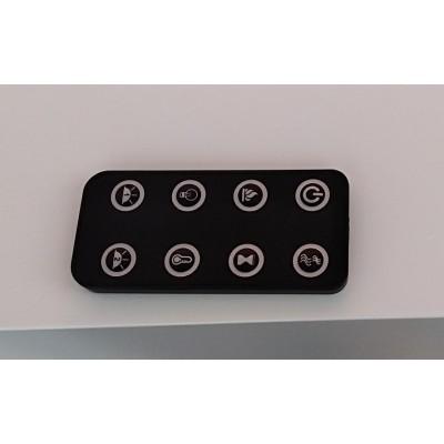 Modena - nástěnný elektrický krb LED Aflamo