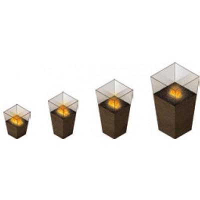 Vase - elektrický krb THE FLAME Opti-myst