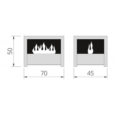 Čertova lavice - elektrický krb THE FLAME Opti-myst