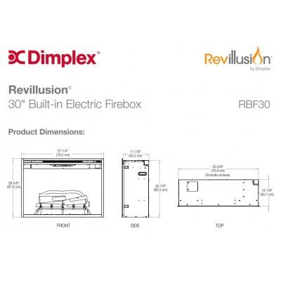 """Dimplex Revillusion 30"""" ECO LED -  elektrická krbová vložka"""