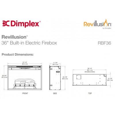 """Dimplex Revillusion 36"""" ECO LED -  elektrická krbová vložka"""
