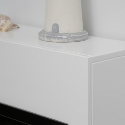 Alicante bílý-beton - elektrický krb Dimplex