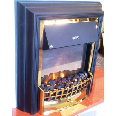Elektrický krb Klasik Cheriton s komínem detail vložky Cheriton