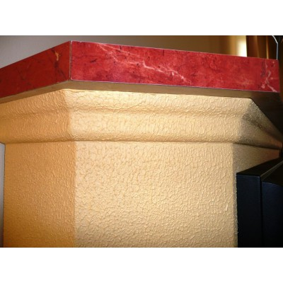 Elektrický krb Klasik Cheriton detail římsy
