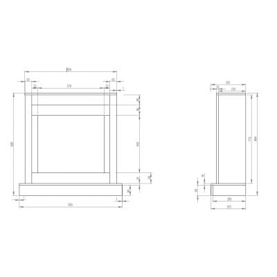 Vigo modern - rozměry