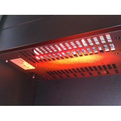 Romero - elektrický krb Dimplex pohled na topení